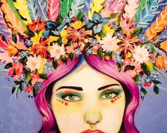 Serena Goddess - Signed Art Print