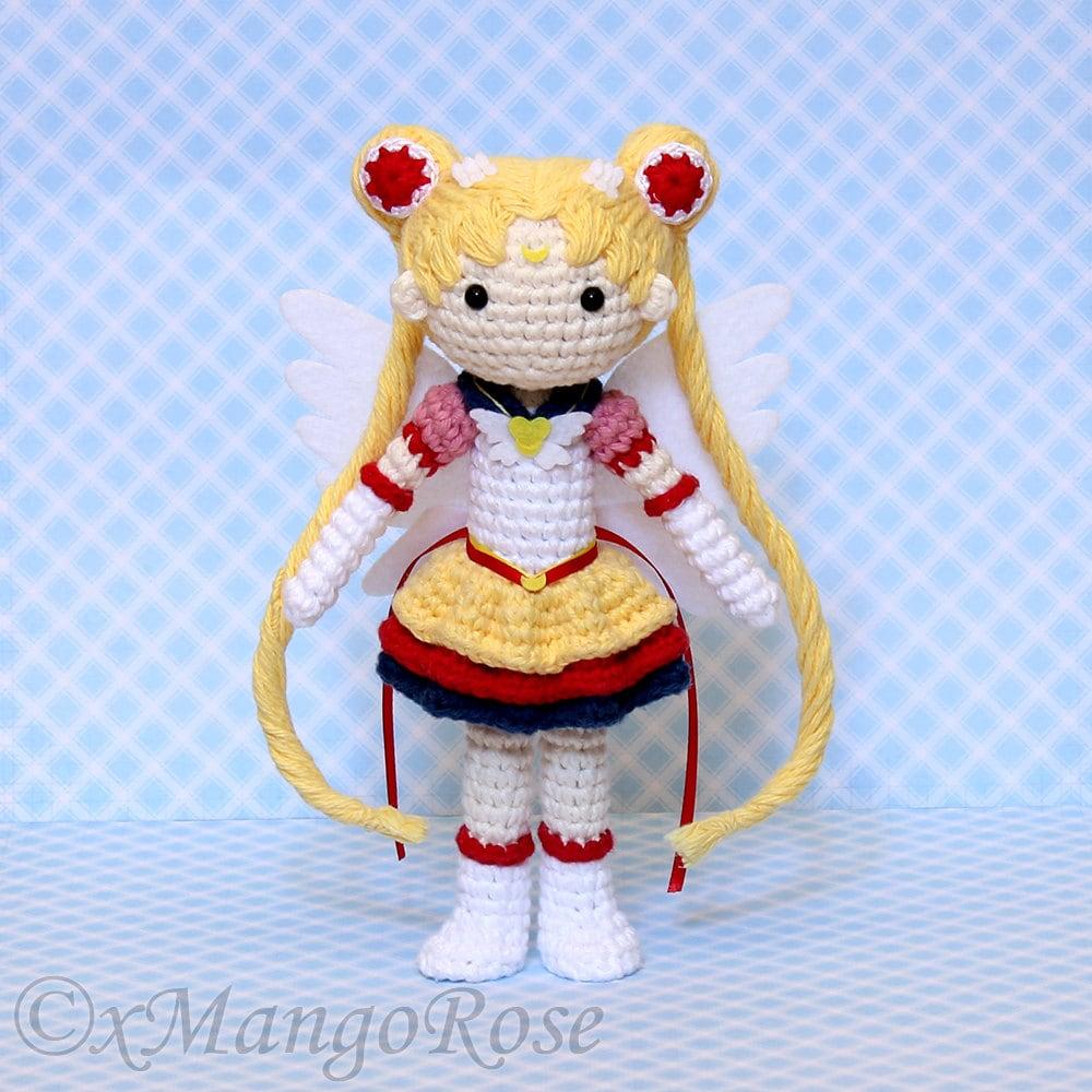 Eternal Sailor Moon Plush Amigurumi Doll Crochet Pattern