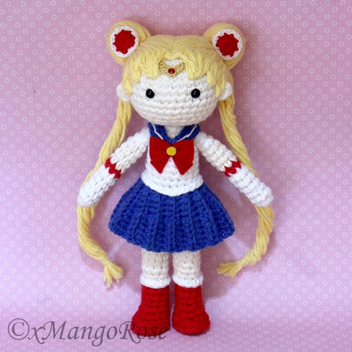 Sailor Moon Plush Amigurumi Doll Crochet Pattern Only