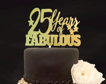25th Birthday Cake Topper CenterpieceAny Age Decoration Custom