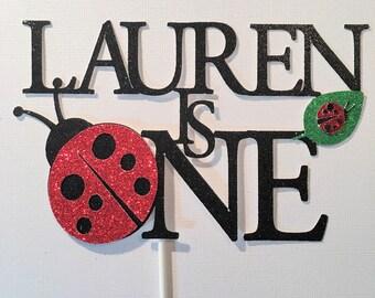 Ladybug Cake Topper First Birthday Lovebug Party Decorations Smash Valentines