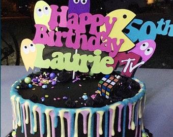 Awesome 80S Theme Birthday 50Th Birthday Cake Topper 80S Birthday Etsy Funny Birthday Cards Online Elaedamsfinfo