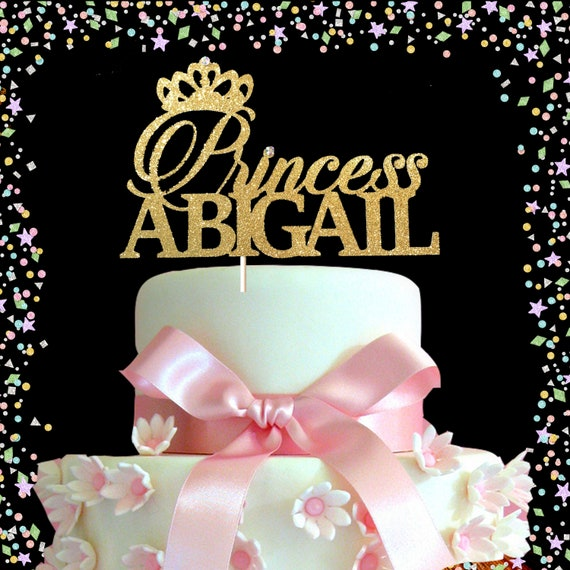 Brilliant Princess Birthday Topper First Birthday Cake Topper Gold Etsy Personalised Birthday Cards Veneteletsinfo