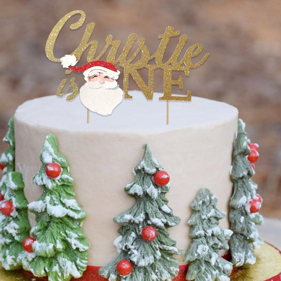 Christmas Birthday Cake.Christmas Birthday Cake Topper Santa Cake Topper Christmas Birthday Topper Christmas Centerpiece Santa Cake Topper Merry Christmas