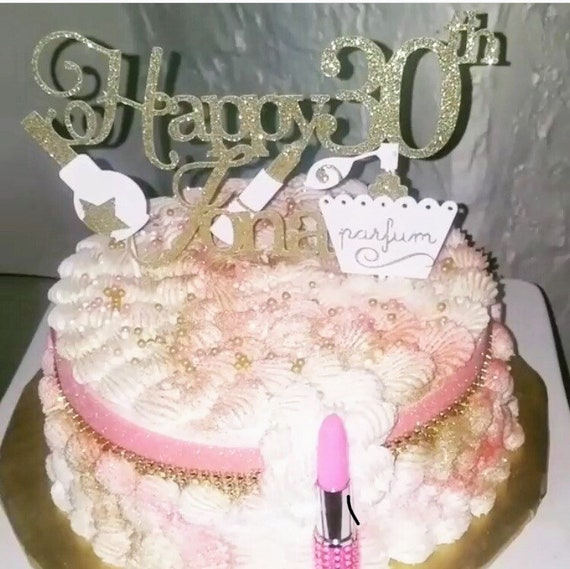 Make Up Cake Topperdiva Cake Topperglam Birthday Cake Etsy