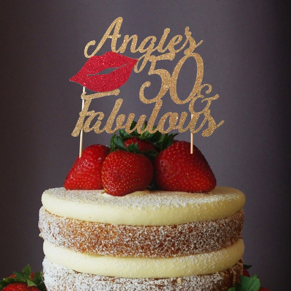 Brilliant 50Th Birthday 50Th Birthday Cake Topper 50Th Birthday Etsy Personalised Birthday Cards Bromeletsinfo
