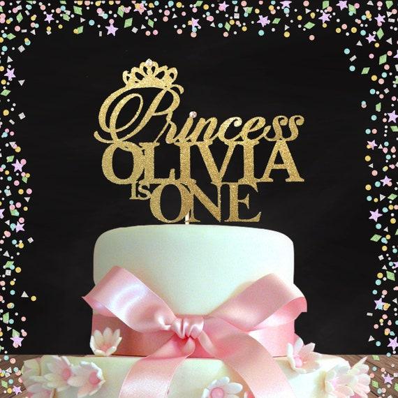 Pleasant Princess Birthday Topper First Birthday Cake Topper Gold Etsy Birthday Cards Printable Benkemecafe Filternl