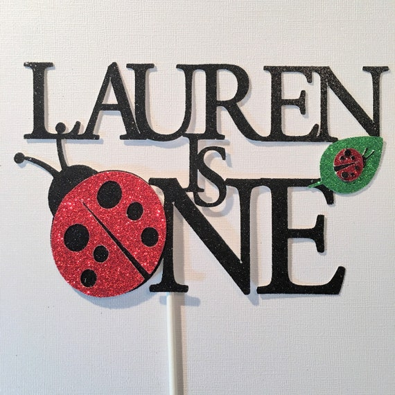Fantastic Ladybug Cake Topper Ladybug First Birthday Lovebug Cake Etsy Personalised Birthday Cards Cominlily Jamesorg
