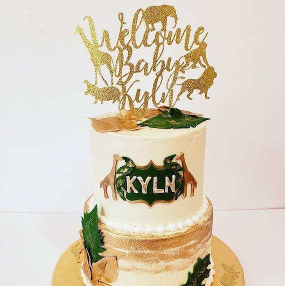Amazing Safari Baby Shower Safari Cake Topper Safari Birthday Cake Etsy Funny Birthday Cards Online Alyptdamsfinfo