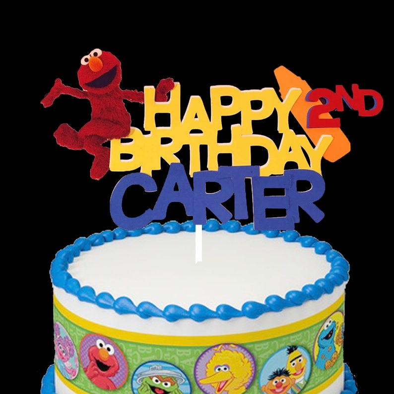 Elmo Birthday Cake Topper Caketopper Centerpiece