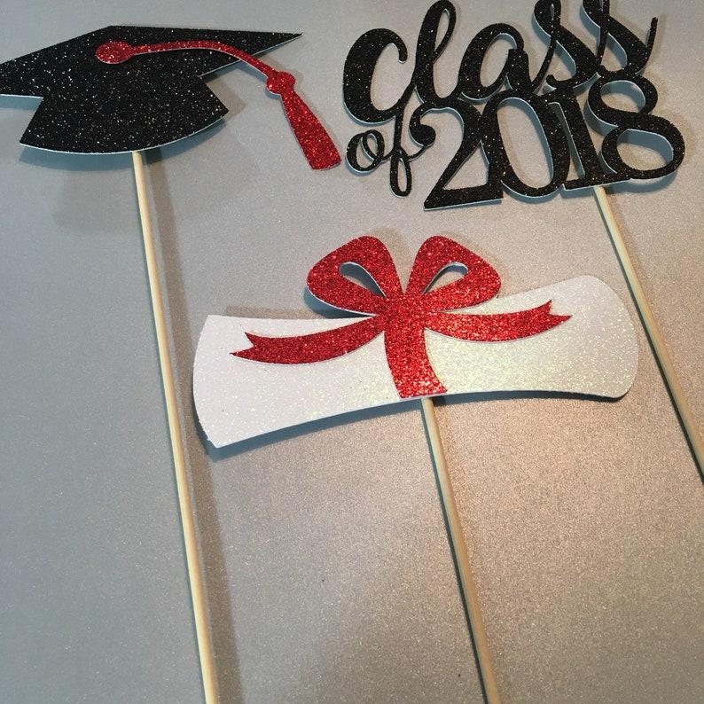 Graduation Table Decor CLASS OF 2018 Centerpiece,Graduation Party 2019 Graduation centerpiece sticks Graduation Centerpiece