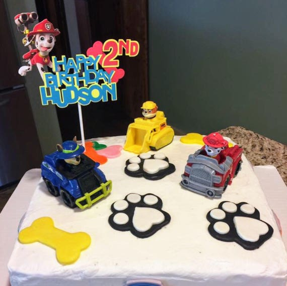 Paw Patrol Cake TopperPaw Birthday BannerPaw