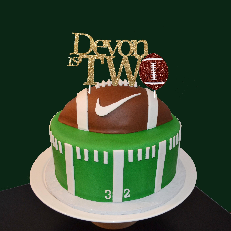 Football Cake Topper First Birthday Football Cake Topper