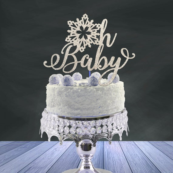 Snowflake Baby Shower Cake Topper Oh Baby Cake Topper Snowflake Cake Topper Winter Wonderland Party Smash Cake Toppersnowflake Cake Topper