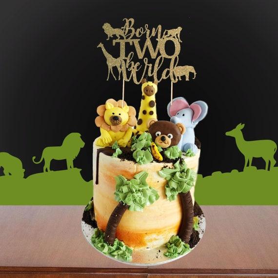 Wondrous Born To Be Wild Cake Topper Safari Birthday Cake Etsy Funny Birthday Cards Online Alyptdamsfinfo