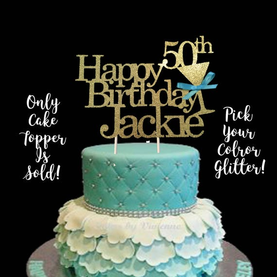 50th Birthday 50th Birthday Cake Topper 50th Birthday Etsy