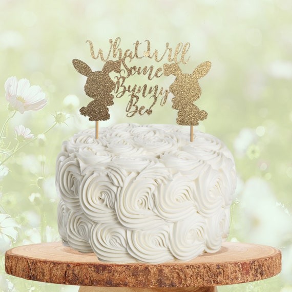 Bunny Cake Topper,Easter Cake Topper,Bunny Ears Cake Topper,Baby Shower Topper,Smash Cake Topper,Animal Cake Topper,1st Birthday Topper,