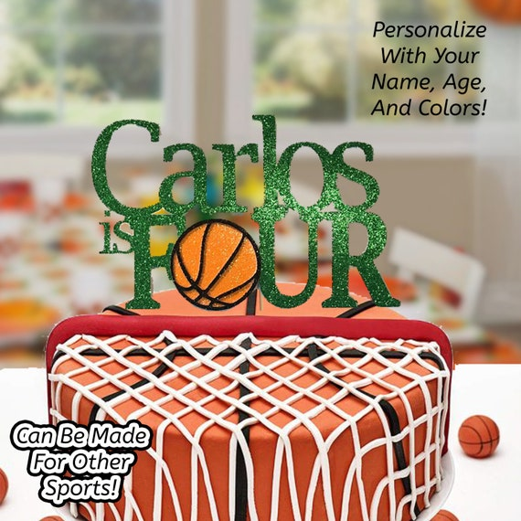 Astounding Basketball Cake Topper Basketball Birthday Cake Topper Etsy Funny Birthday Cards Online Unhofree Goldxyz