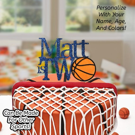 Remarkable Basketball Cake Topper Basketball Birthday Cake Topper Etsy Funny Birthday Cards Online Alyptdamsfinfo
