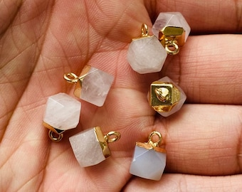 Tiny Pink Rose Quartz Pendant, Rose Quartz Necklace Pendant, Polished Rose Quartz, Rose Quartz, Gemstone Necklace Pendant, Crystal Pendant