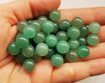 Small Round Natural Green Aventurine Sphere Gemstone, Round Gemstones 10mm, Home Decor, Unique Jewelry Supplies