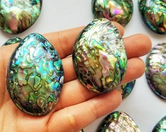 Large Abalone Pendant - Abalone Shell Bead - Large Pendant - Paua Shell Pendant - Jewelry Supplies - Abalone Beads