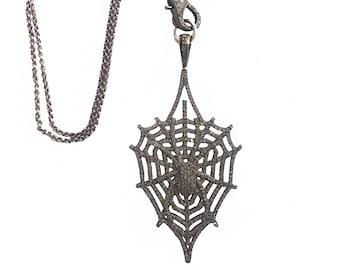 Spider Diamond Necklace