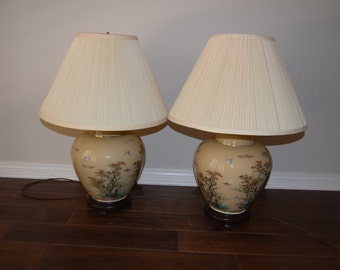 Mid Century Asian Table Lamps - FH