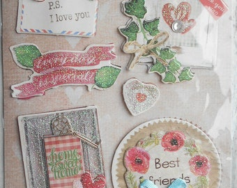 Plate 11 3D card making, new scrapbooking stickers