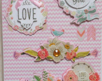 10 stickers 3D flowers and card making, scrapbooking new message board