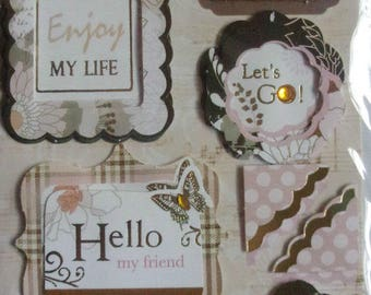 Plate 14 3D card making, new scrapbooking stickers