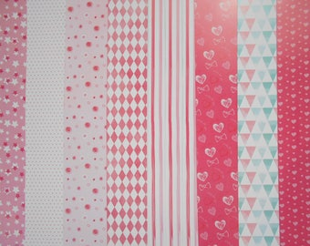 Set of 8 sheets printed A4 210 gr, scrapbooking, cardmaking