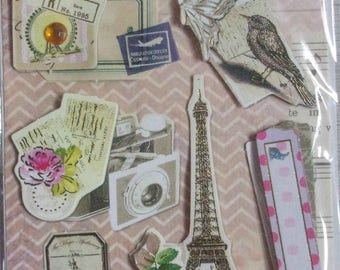 Plate 12 3D card making, new scrapbooking stickers