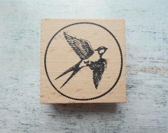 """""""Bird"""" new wooden rubber stamp"""