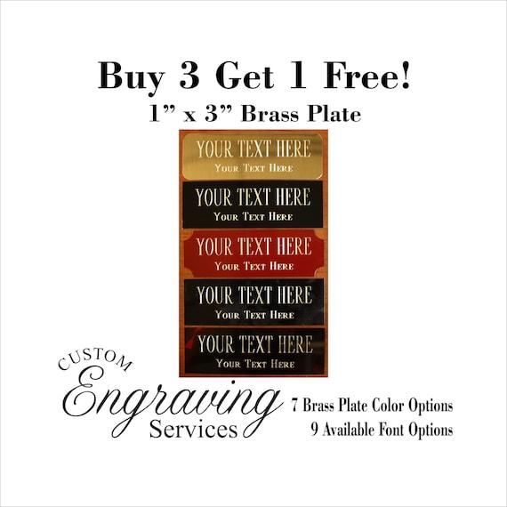 Custom Engraved Plate art-trophy-Taxidermy 1x3 Brass FANTASY FOOTBALL