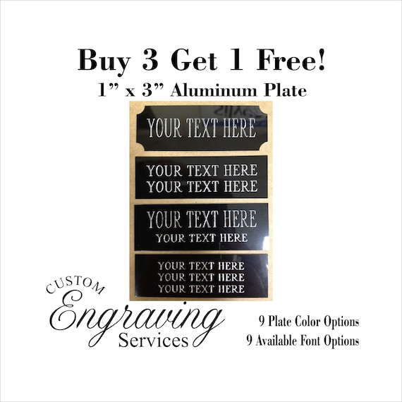 """Engraved Plate art-trophy-Taxidermy 1//2/""""x3/"""" Silver aluminum free engraving"""