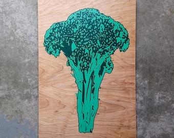 Limited Edition Broccoli Wood Print