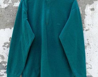 afadf98d3fc9 Vintage FILA Fleece Sweater Jumper Sweater Quarterzip 90s Size L