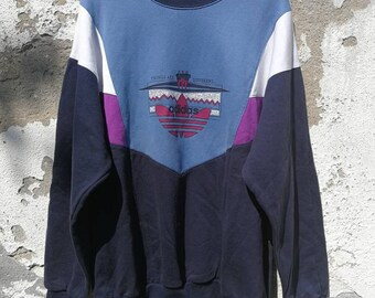 afa21ace5c337f Vintage Adidas Sweatshirt Jumper Sweater 80s 90s Size L