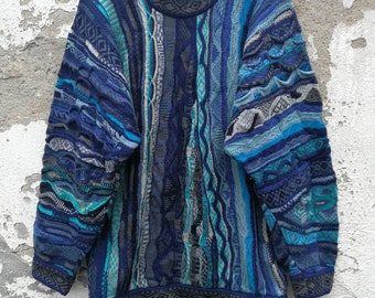 37f4c34d4fadc8 Vintage COOGI Pullover Jumper Sweater Knit Wear Cosby Made in Australia 80s  90s Size L