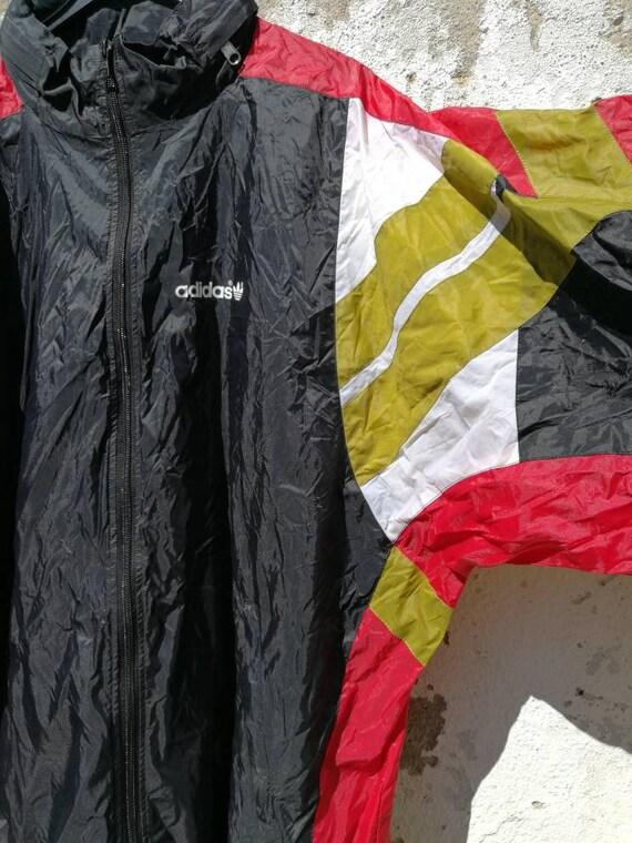 Vintage Adidas Rain Jacket Rain Jacket Windbreaker 80s 90s Size XL
