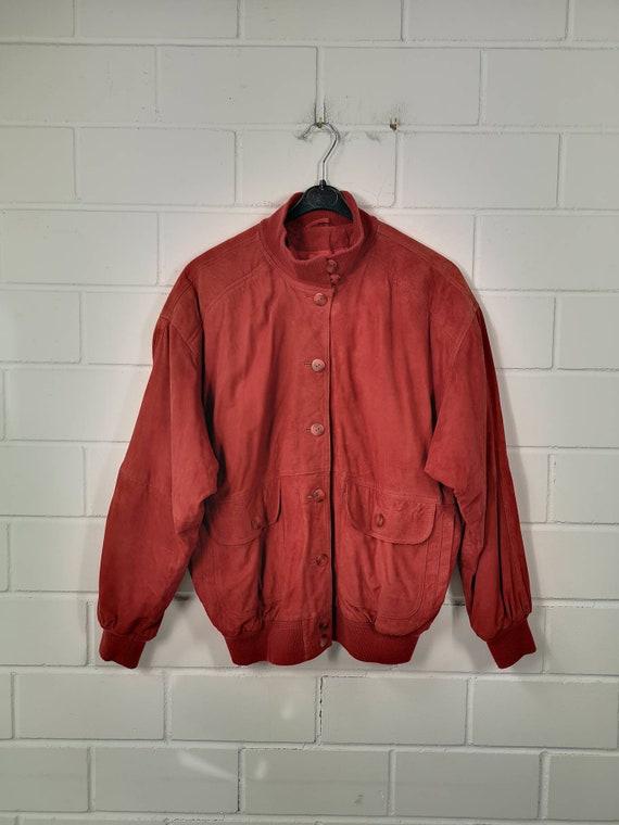 Vintage Women Size L Suede Leather Jacket Suede Le
