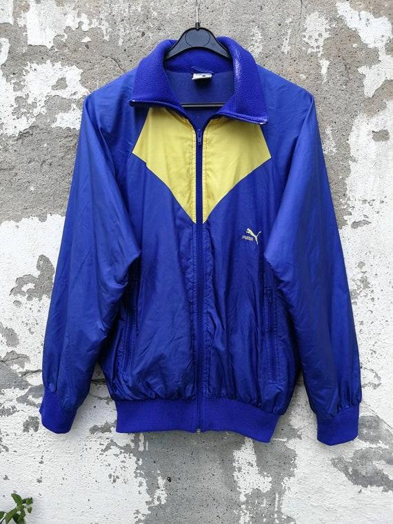 Vintage Puma Shelljacket Sportjacket Windbreaker Sportjacke 80s 90s Size M