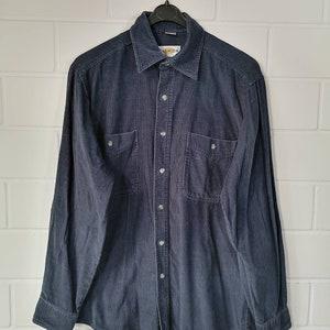 Vintage Le Frog Corduroy Shirt Shirt Cord shirt 80s 90s Size M