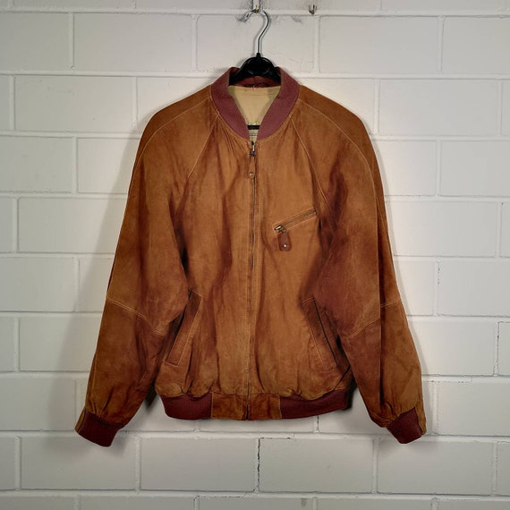 Vintage Size M Suede Leather Jacket Suede Leather