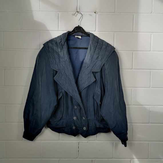 Vintage Women Size XL Silk Bomber Jacket Silk Jack