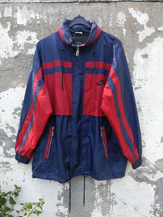 Nike 80s Rain Size Jacket Sm Regenjacke Windbreaker Vintage 90s FcK1lJ