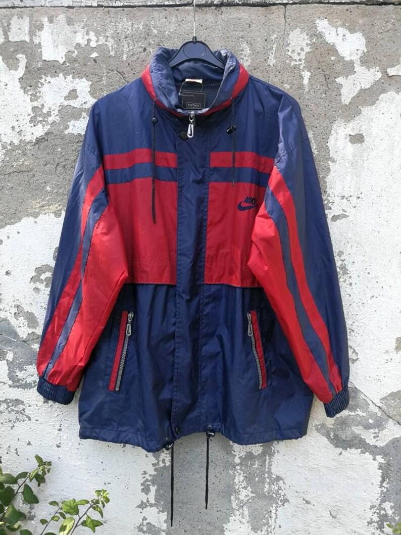 Vintage Nike Rain Jacket Regenjacke Windbreaker 80s 90s Size SM