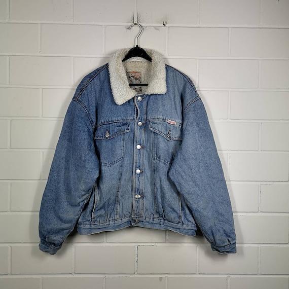 Vintage Size XL/XXL lined denim jacket denim jacke
