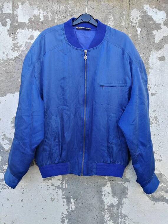 Vintage silk bomber jacket Blouson silk jacket 80s